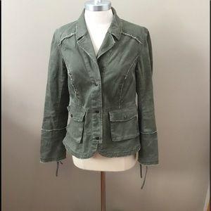 Free People Green Jean Jacket